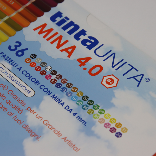 PASTELLI TINTA UNITA MINA MM.4.0 POOL OVER 36 COLORI
