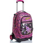 TROLLEY SEVEN JACK 2WD STREET STARRY RAINBOW COLORE ROSA