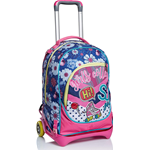 TROLLEY SEVEN JACK PINKY COLLEGE COLORE ROSA/BLU
