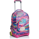 TROLLEY SEVEN JACK PASTEL RAINBOW COLORE ROSA
