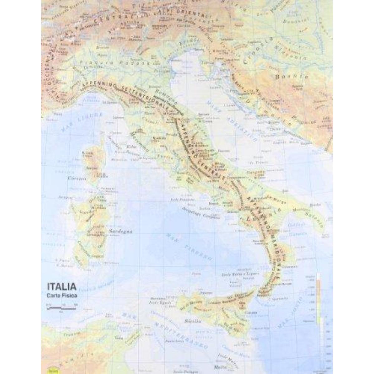 Cartina Italia Politica In Vendita.9788881462896 Cartina Italia Belletti A3 Plastificata Belletti