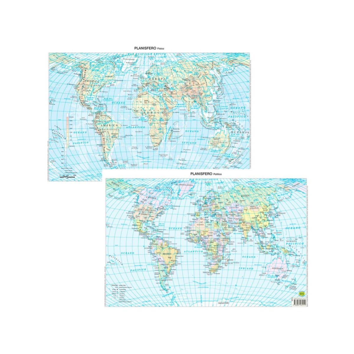 Cartina Geografica Mondo Buffetti.9788881462919 Cartina Planisfero Belletti Formato A3 Belletti
